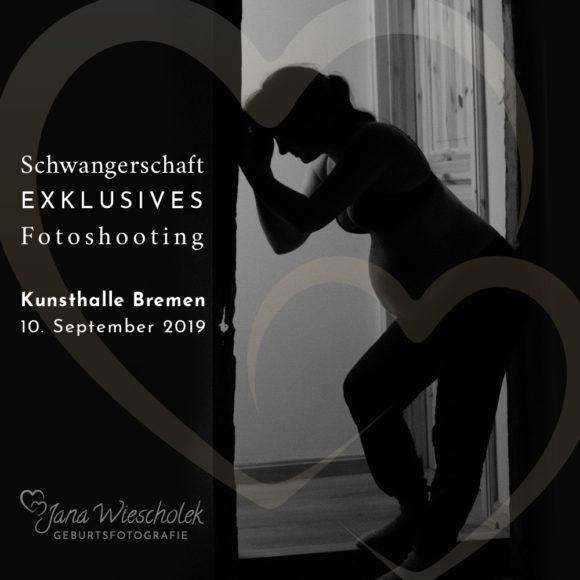 Schwangerschfts fotoshooting Kunsthalle Bremen